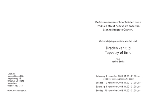 Draden van tijd / Tapestry of time, Menno Kroon