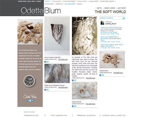 The Soft World featured at Odette Blum blog