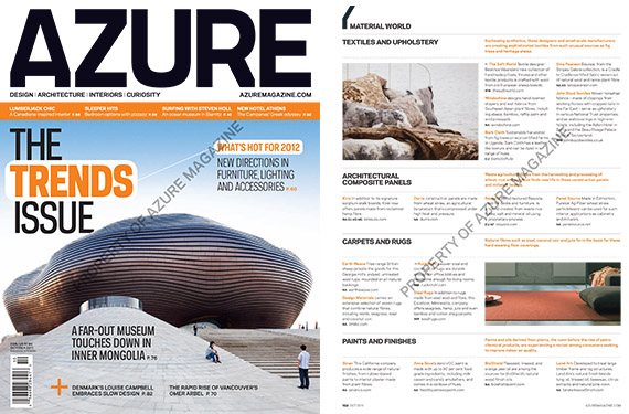 Azure Magazine, Canadian magazine, October 2011