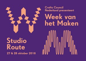 Crafts Council Nederland, Week van het Maken, Studio Route, Rotterdam, October 2018