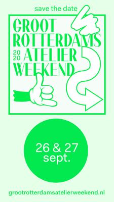 Groot Rotterdams Atelier Weekend, Open Studio, 26 & 27 September 2020