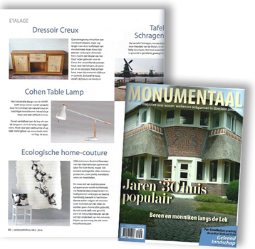Monumentaal, Dutch magazine, October 2016