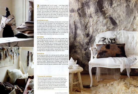 Stijlvol Wonen, Belgian magazine, October 2012